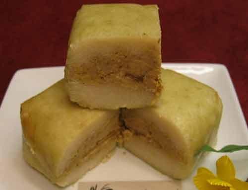 Bánh chưng chay nhân thơm với nấm hương