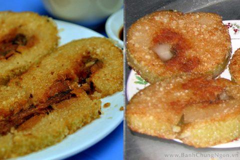 Bánh chưng rán nóng giòn ngon