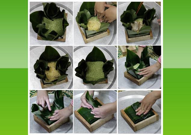 Cách gói bánh chưng ngon