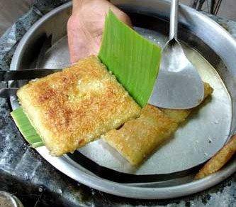 Chảo bánh chưng ngon rán sốt chua cay