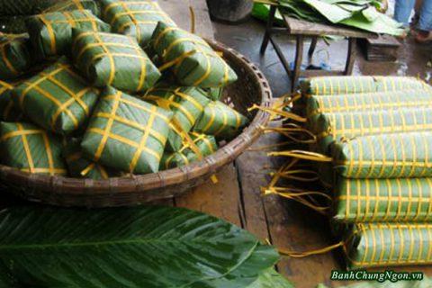 Bánh chưng ngon ở Bờ Đậu - Thái Nguyên