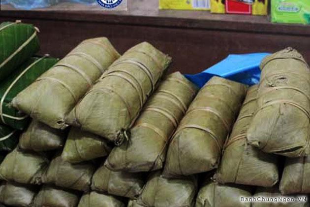 Bánh chưng cẩm - Lá cẩm ở Lạng Sơn