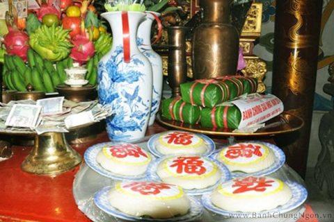 Lễ giỗ tổ Hùng Vương với bánh chưng và bánh giầy ngon - đẹp