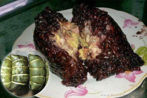 Bánh chưng gù nếp cẩm